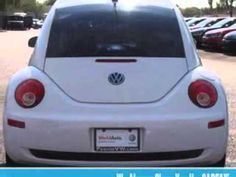 2009 Volkswagen New Beetle, Lunde's Peoria Volkswagen- http://www.peoriavw.com/ you will love this Candy White 2009 Volkswagen New Beetle, equipped with a 5 Cyl. engine  and a tiptronic transmission with  only 12,839 miles. enjoy an impressive 29 miles to the gallon on this great car with features like cd player, alloy wheels, leatherette uphols...