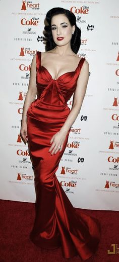 super glam/sexy in this red-hot number