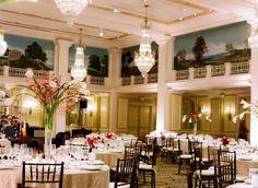 The Willard Inter-Continental Hotel, Washington DC ballroom, formal wedding reception - photo by Abby Jiu, flowers by Petal's Edge