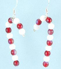 These Candy Cane Earrings are so simple but scream holiday spirit!