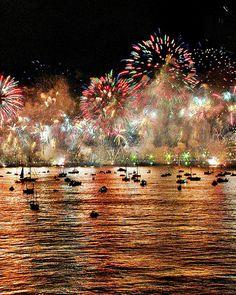 New Year's in Copacabana, Rio de Janeiro, Brasil.