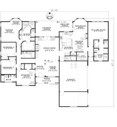House Plan 62169 | European Traditional Plan with 2880 Sq. Ft., 5 Bedrooms, 4 Bathrooms, 3 Car Garage at family home plans