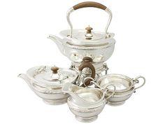 Sterling Silver Four Piece Tea Service - Antique George V  SKU: A3742 Price  GBP £4,650.00  http://www.acsilver.co.uk/shop/pc/Sterling-Silver-Four-Piece-Tea-Service-Antique-George-V-97p3379.htm#.Vjnw9Cs8rfc