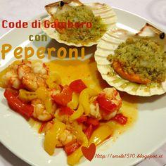 Code di gambero e peperoni
