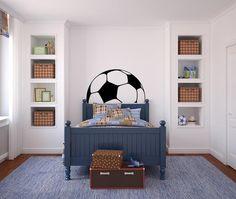 Soccer Ball Headboard Vinyl Wall Decal Sticker Graphic - Oakwood Decals - 1