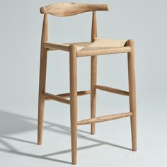Hans Wegner Elbow Bar / Counter Stool - Enhance the organic personality of your naturally designed or western-inspired kitchen or bar space while providing comfortable seating . Metal Chairs, Cool Chairs, Bar Chairs, Dining Chairs, Office Chairs, Study Chairs, Reading Chairs, Painted Chairs, Eames Chairs