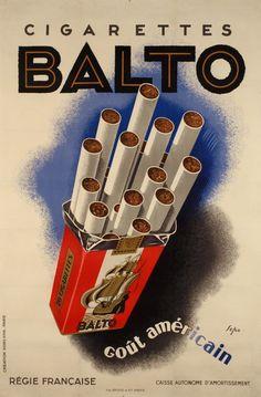 Cigarettes Balto, goût américain - 1932