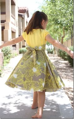 upcycled tshirt twirly dress from the Crafty Cupboard