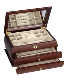 Take a look at this Gold Fixture Classic Jewelry Box by HomePointe on #zulily today!