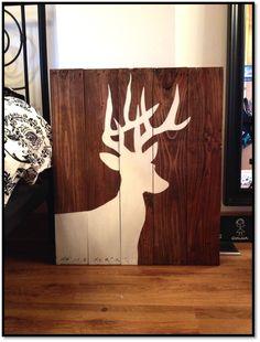 deer painting on boards....!