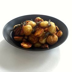 Roasted sage and garlic potatoes with a crunch