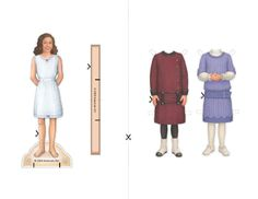 american girl printables | American Girl Activity Sheets -- Rebecca Paper Dolls