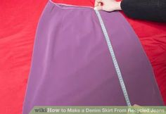 Image titled Make a Denim Skirt From Recycled Jeans Step 2