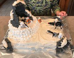 "Lego Star Wars ""Assault on Hoth"" birthday cake."