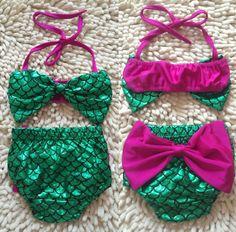 Toddler Kids Baby Girl Mermaid Swimsuit Tankini Bikini Set Summer Children Swimwear Bathing Suit  Color: Multi Size: 6M