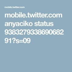 mobile.twitter.com anyaciko status 938327933869068291?s=09