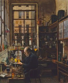 Henry Alexander - In the Laboratory [c.1885-87]  #19th #Classic #HenryAlexander #Painting