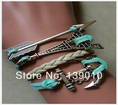 Wholesale Arrow Jewelry - Buy !!Blue Leather Suede Eiffel Tower Accessories Charm Bracelet Women Silver Alloy Anchor Arrow Jewelry K-534, $1.33   DHgate.com