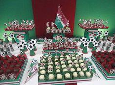 Detalhes - mesa com doces - Fluminense
