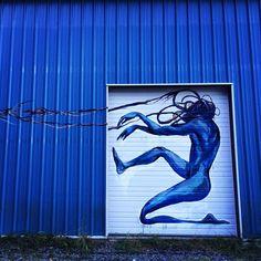 arte de la calle de Taylor blanca en Bellingham