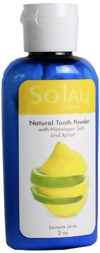 So Smile Lemon-Lime Natural Tooth Powder, 2-Ounce by So Smile. $8.45. 100-percent Vegan and cruelty free. Lovingly hand crafted with all natural non toxic ingredients for your well being. Contains xylitol and 84 mineral rich unrefined and unprocessed pure himalayan salt from primordial ocean waters. Try all 6 natural flavors. Your mouth will come alive, your teeth and gums will feel fresh and clean and you'll feel good knowing that you're family is using a safe and...