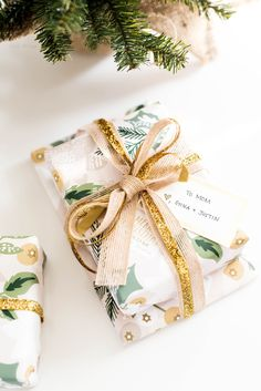 Now that you have found your loved ones gifts, wrap them up in personalized gift wrapping paper from Minted.
