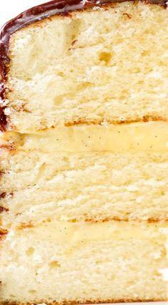 Triple Layer Boston Cream Pie