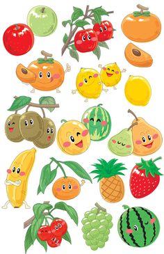 Grafika átlátszó háttérrel - Gyümölcsök, bogyók