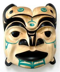 Canadian Native Art -- West Coast spiritual mask