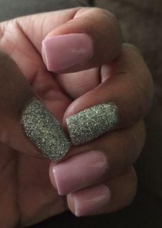 Lavender Glitter SNS Nails