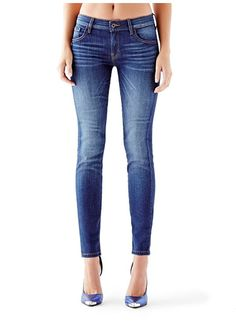 Mid-Rise Power Curvy Jeans in Reller Wash Guess
