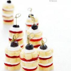 Mini Strawberry Shortcake Stacks