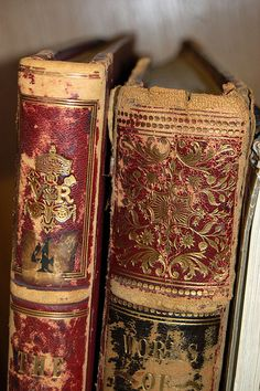 Antique books with lots of lovely patina