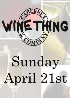 The approvals have all been received and the date is set. This spring's WINE THING is scheduled for Sunday, April 21st, from noon till 4pm. More details will follow as we get closer, but in a nut shell: 20 vendors, 100 wines open to taste, discounts ranging from 5% to 24%.