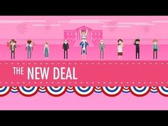 I love John & Hank Green and their videos! The New Deal: Crash Course US History #34 - YouTube