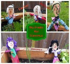 How to make mini scarecrows