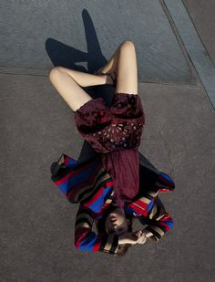 Carven Fall 2012 Ad Campaign  Anaïs Pouliot, photographed by Viviane Sassen
