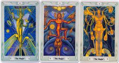 Crowley's other Magus tarot cards painted by Frieda Harris | Blau ...