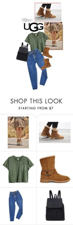 """""""The New Classics With UGG: Contest Entry"""" by victoria-bella-donna ❤ liked on Polyvore featuring UGG, PèPè, ugg, contestentry and fashionset"""