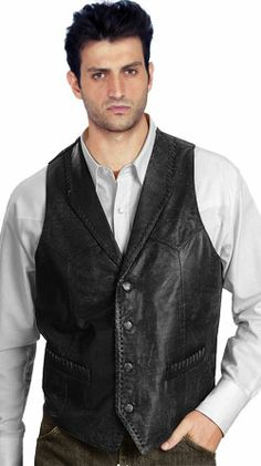 9270648b81d96 Scully Buffed Calfskin Leather Vest available at