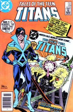 """If you missed the insert from """"DC Comics Presents"""" issue 26 introducing the new Titans, this issue reprints it (and the scene where a plasmic monster eats Victor Stone's body and his father saves his life the only way he knows how - by putting what's left in an exoskeleton of steel (thanks a lot, Pops; don't mind if I waive Father's Dad cards for the next few millennia))."""