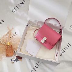 009f2fa4c193 2017 Celine Mini Classic Box Bag in Pink Leather