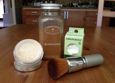 """DIY finishing powder from Vegan Beauty Review: """"In a bowl, mix 1 tablespoon of arrowroot powder with a small amount of cocoa or cinnamon. Just keep adding a little more at a time until you get your desired shade. Whisk your ingredients really well, and then pour into your old makeup container."""""""