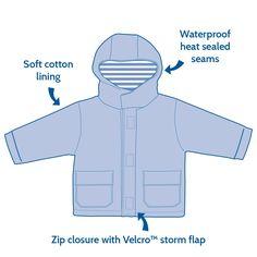 Dinosaur Fleece-Lined Fisherman Jacket Instructions  JoJo Maman Bebe