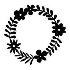 Silhouette Design Store: floral circle