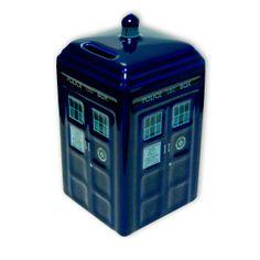 Hucha Nave Tardis. Doctor Who, cerámica 15cm Original hucha en cerámica, con la fomra de la popular nave Tardis que aparece en la serie de televisión Doctor Who.
