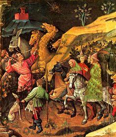 1401-1425  Giovanni da Modena  La visite des rois mages à Bethléem, détail  fresque