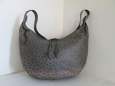 Genuine OSTRICH Leather Hobo Carryall Cross body Messenger Bag South Africa