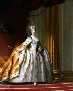 Virgilius Eriksen (Denmark) _   Catherine the Great in her Coronation Robe, 1778-1779.