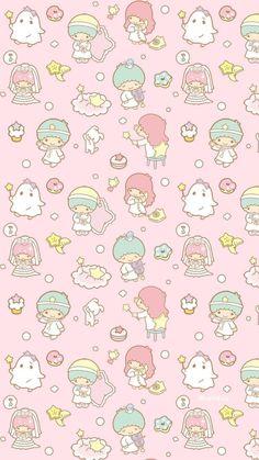 Super Ideas For Wall Paper Cute Iphone Kawaii Little Twin Stars Sanrio Wallpaper, My Melody Wallpaper, Star Wallpaper, Kawaii Wallpaper, Pattern Wallpaper, Hello Kitty Backgrounds, Hello Kitty Wallpaper, Cute Wallpaper Backgrounds, Little Twin Stars